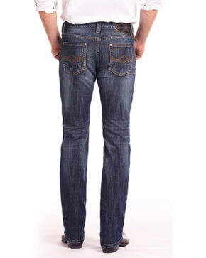 Rock & Roll Cowboy Men's Reflex Revolver Abstract V Jeans - Straight Leg, Blue, hi-res