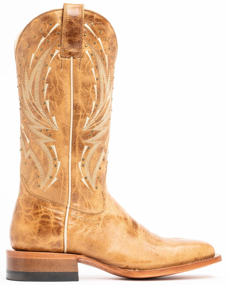 Shyanne Women's Studded Tan Performance Western Boots - Wide Square Toe, Tan, hi-res