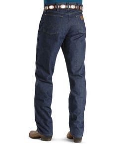 Wrangler 47MWZ Premium Performance Cowboy Cut Regular Fit Prewashed Jeans, Indigo, hi-res