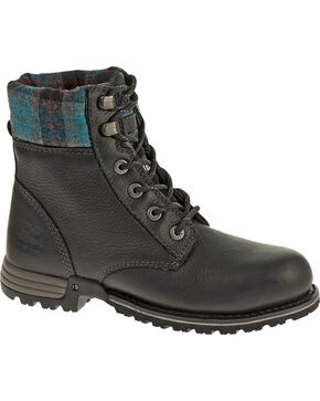 Caterpillar Women's Kenzie Work Boots - Steel Toe, Black, hi-res