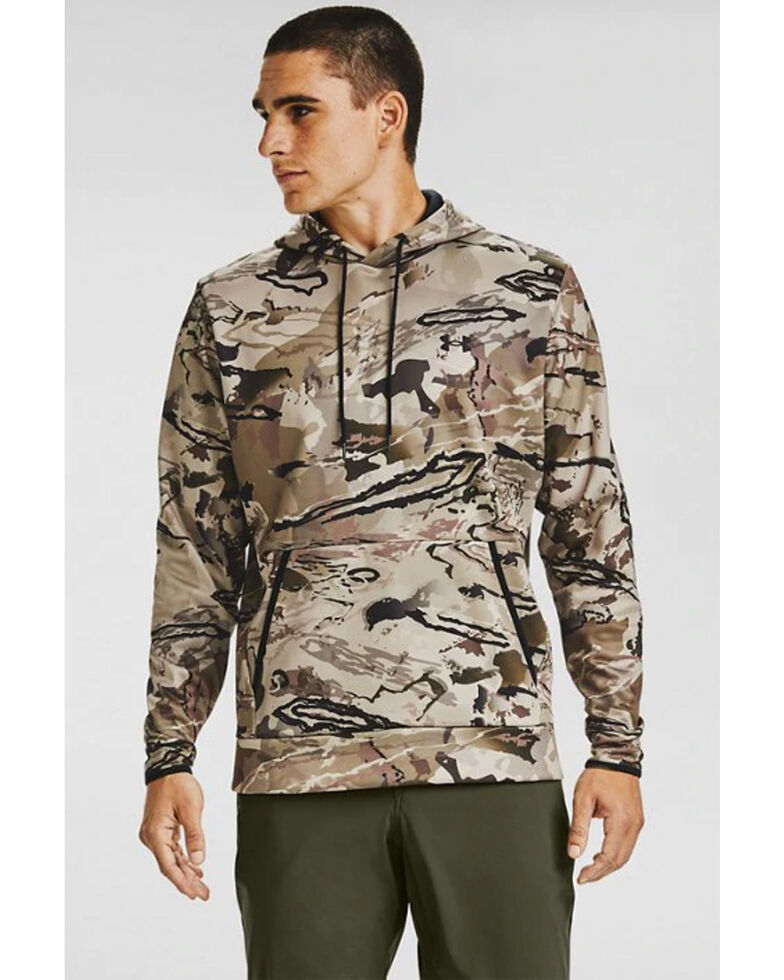 Under Armour Men's Barren Camo Hooded Work Sweatshirt , Camouflage, hi-res