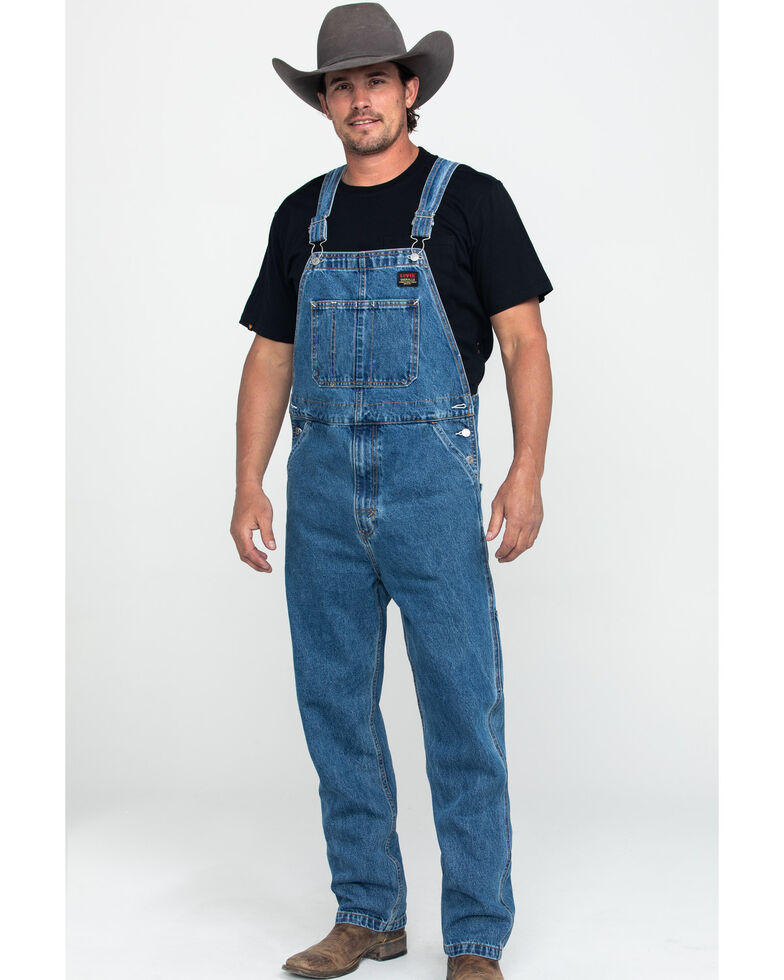 Levis' Men's Stonewash Regular Relaxed Straight Overalls , Light Blue, hi-res