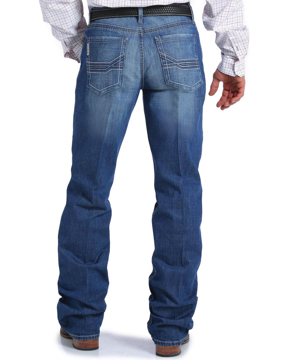 Cinch Men's Grant Medium Stonewash Relaxed Fit Jeans - Boot Cut, Indigo, hi-res