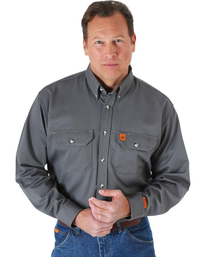 Wrangler Riggs Men's Flame Resistant Work Shirt, Grey, hi-res