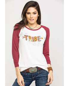 Ariat Women's Tribe Raglan Top, White, hi-res