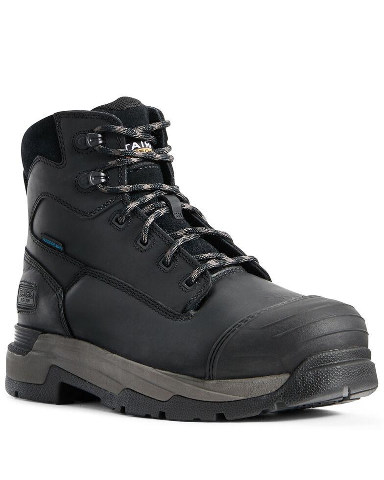 Ariat Men's Black Mastergrip Defend Waterproof Work Boots - Composite Toe, Black, hi-res