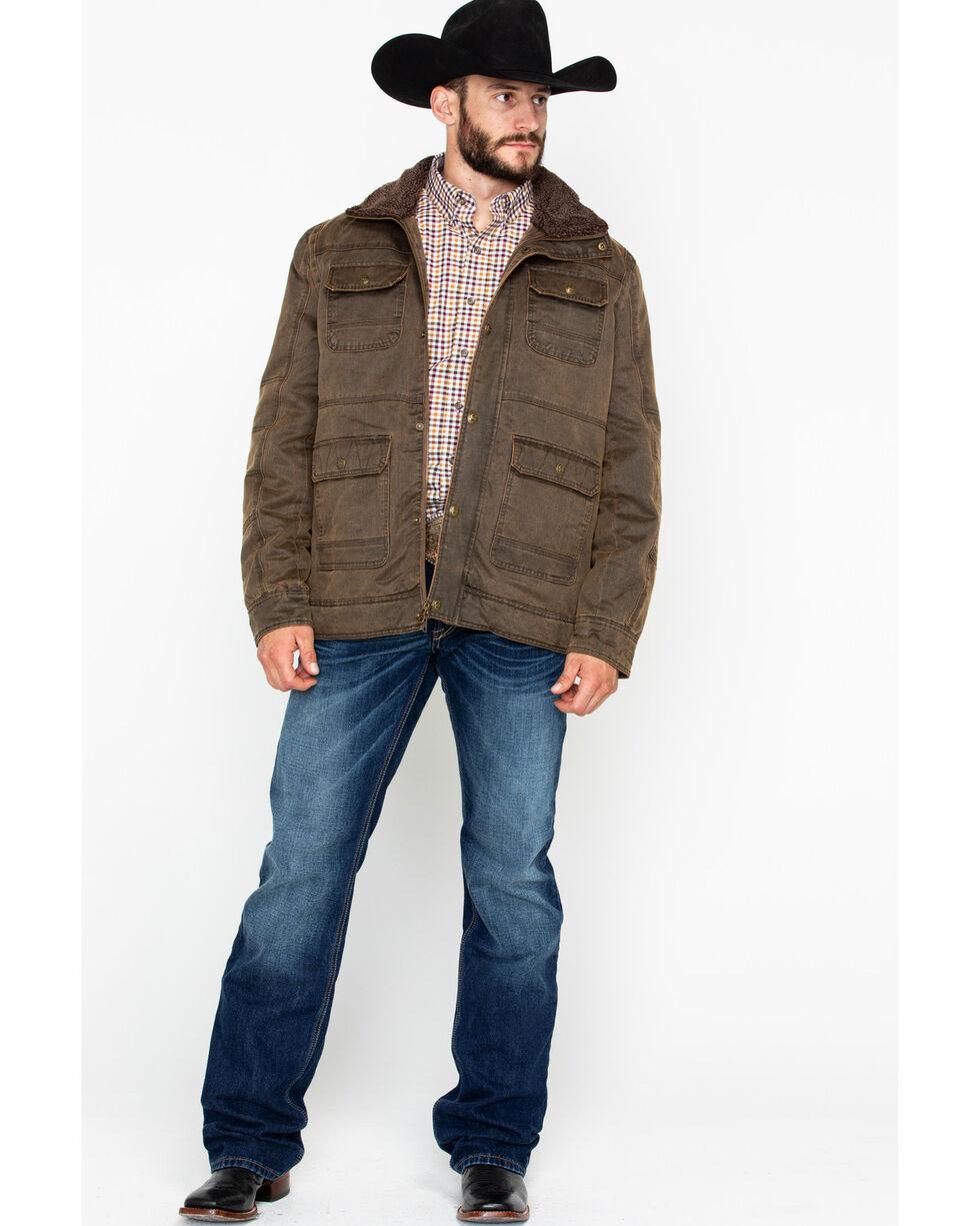 Cripple Creek Men's Pocket Snap Zip-Up Jacket  , Chocolate, hi-res