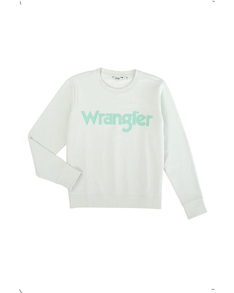 Wrangler Modern Women's Aqua Logo Pullover , Aqua, hi-res