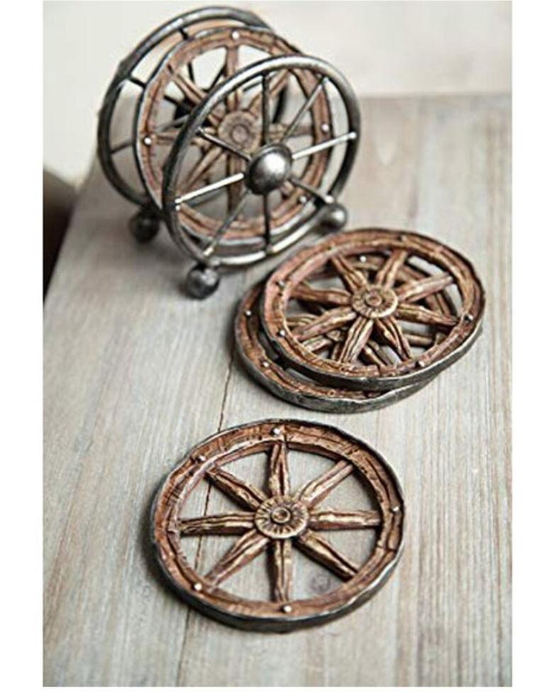 Manual Woodworkers Wagon Wheel Coaster Set, Multi, hi-res
