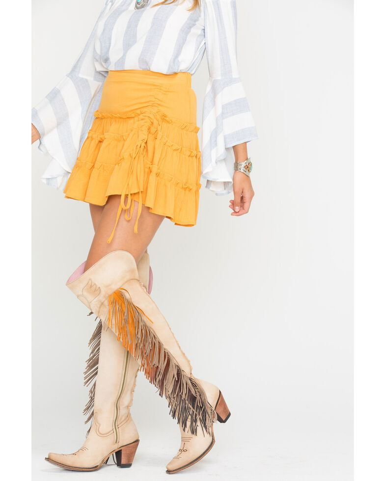 Sage the Label Women's Yellow Rio Skirt , Yellow, hi-res