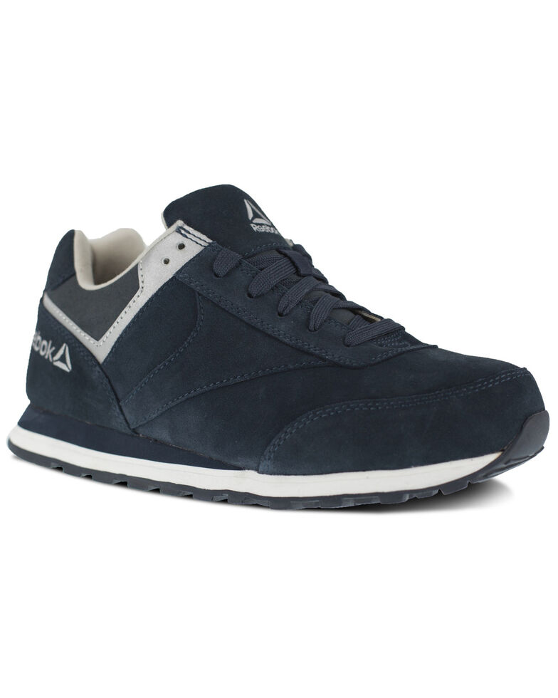 Reebok Men's Leelap Retro Jogger Work Shoes - Steel Toe, Blue, hi-res