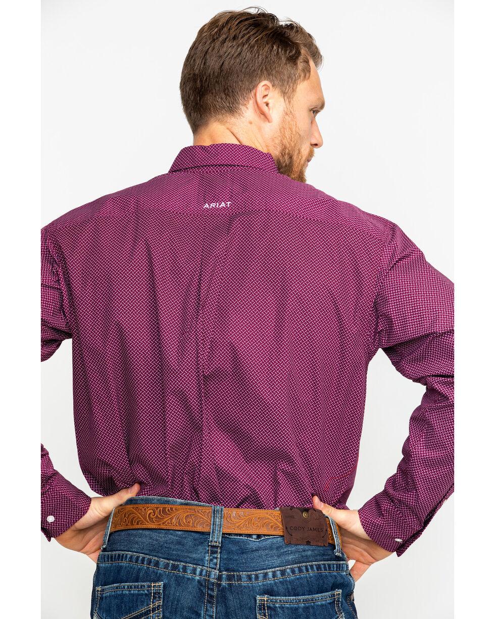 Ariat Men's Dalazar Print Long Sleeve Western Shirt, Purple, hi-res