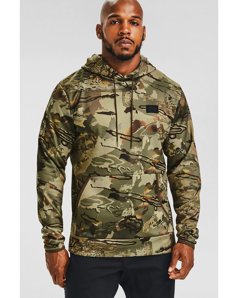 Under Armour Men's Forest Camo Hooded Work Sweatshirt , Camouflage, hi-res