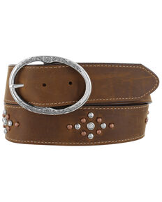 Justin Women's Red River Western Belt, Brown, hi-res