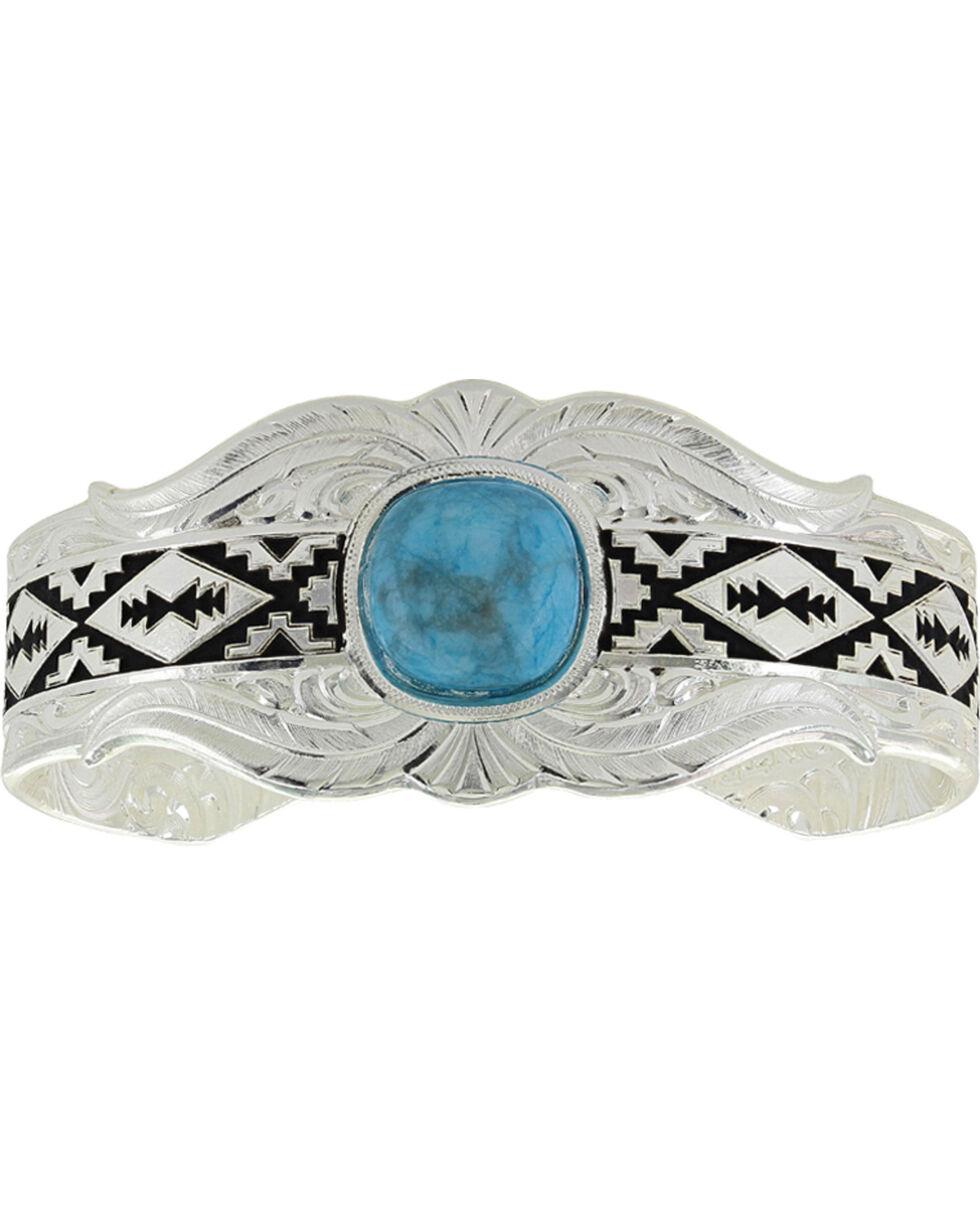 Montana Silversmiths Women's Silver Southern World Cuff Bracelet , Silver, hi-res