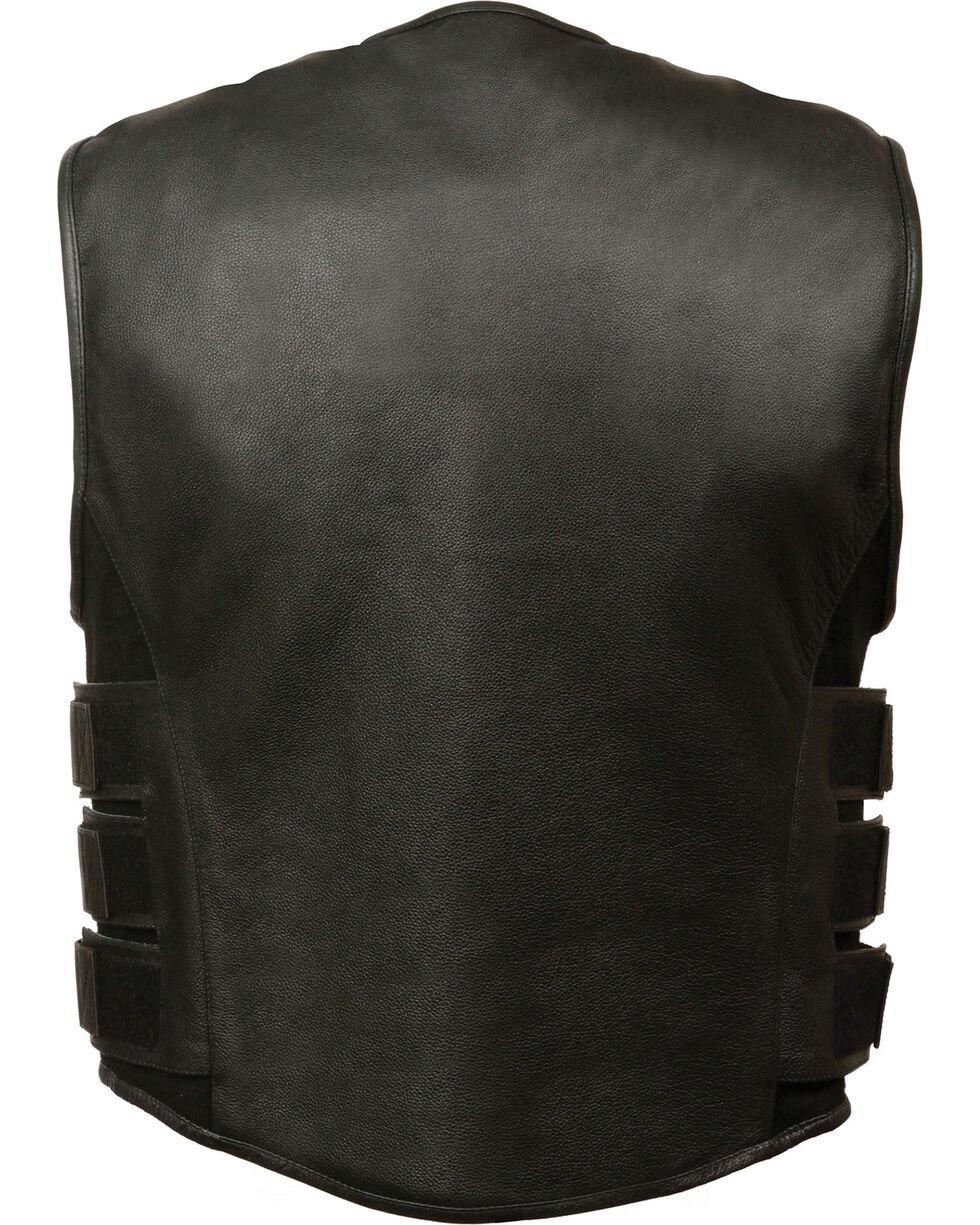 Milwaukee Leather Men's SWAT Style Zipper Front Vest - 4X, Black, hi-res