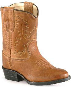 Jama Toddler's Cushion Comfort Western Boots, Tan, hi-res