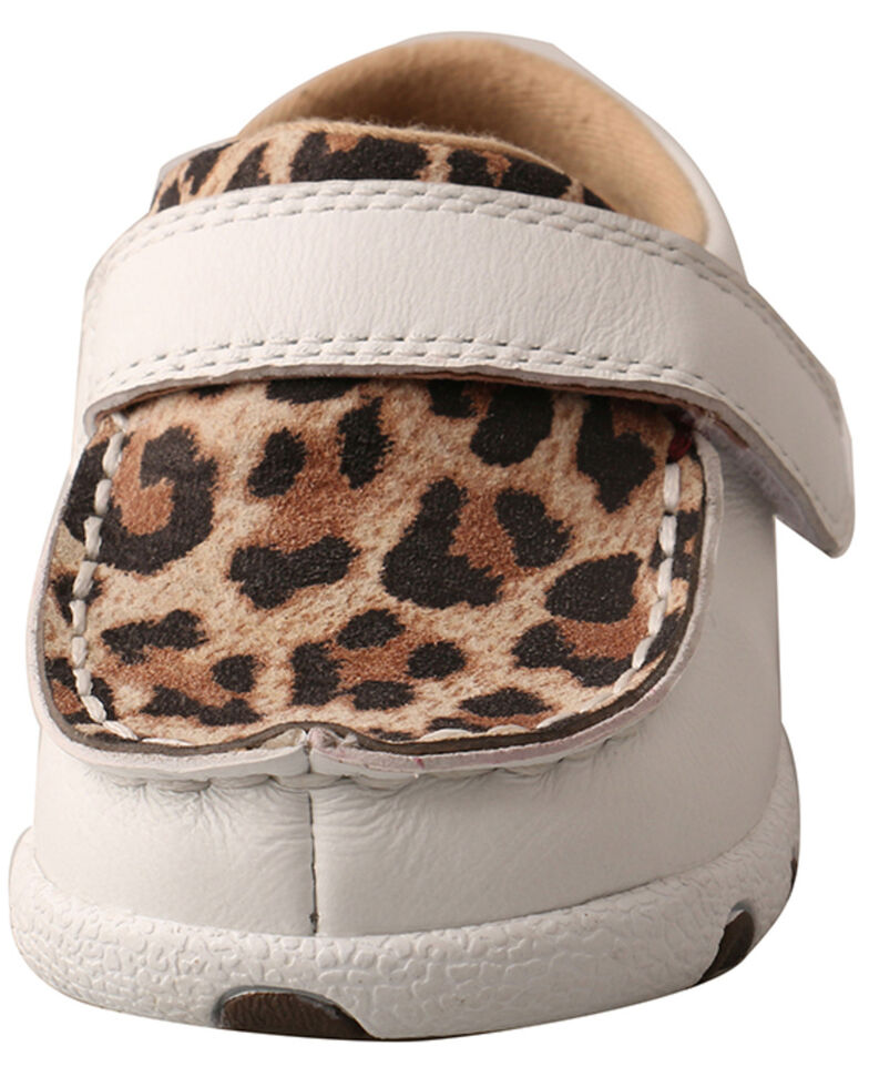Twisted X Infant Girls' White Leopard Shoes - Moc Toe, , hi-res