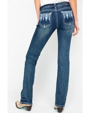 Grace In LA Women's Easy Mid Boot Cut Jeans, Blue, hi-res