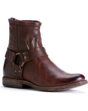 Frye Women's Phillip Harness Boots - Round Toe, Dark Brown, hi-res