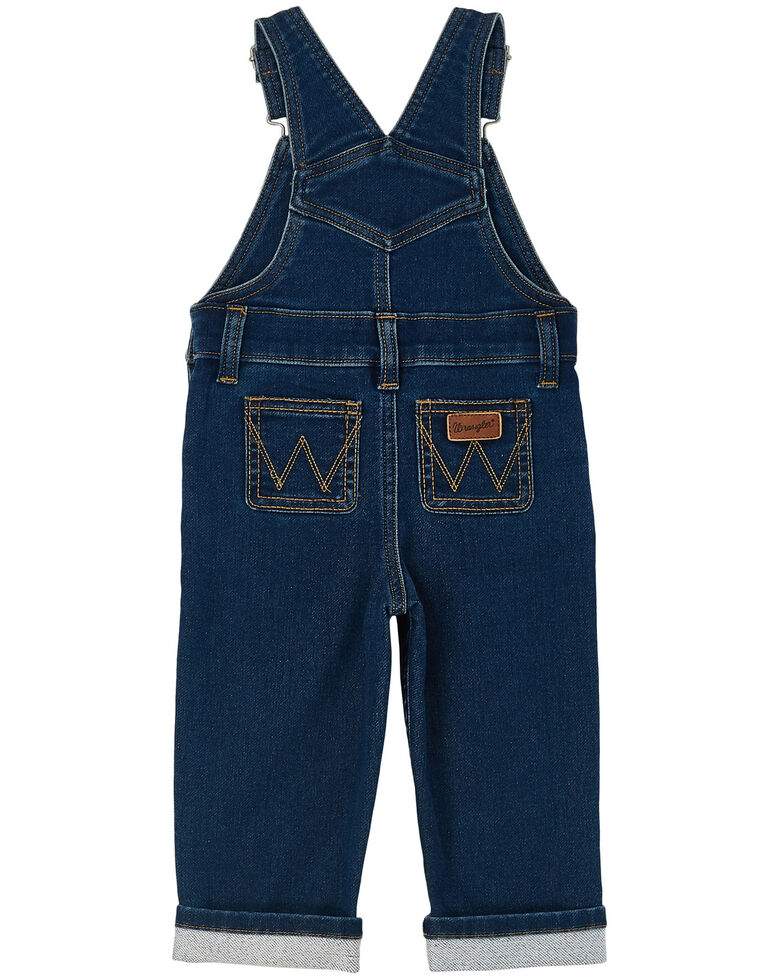 Wrangler Infant' Dark Washed Indigo Overall Pant Jeans , Blue, hi-res