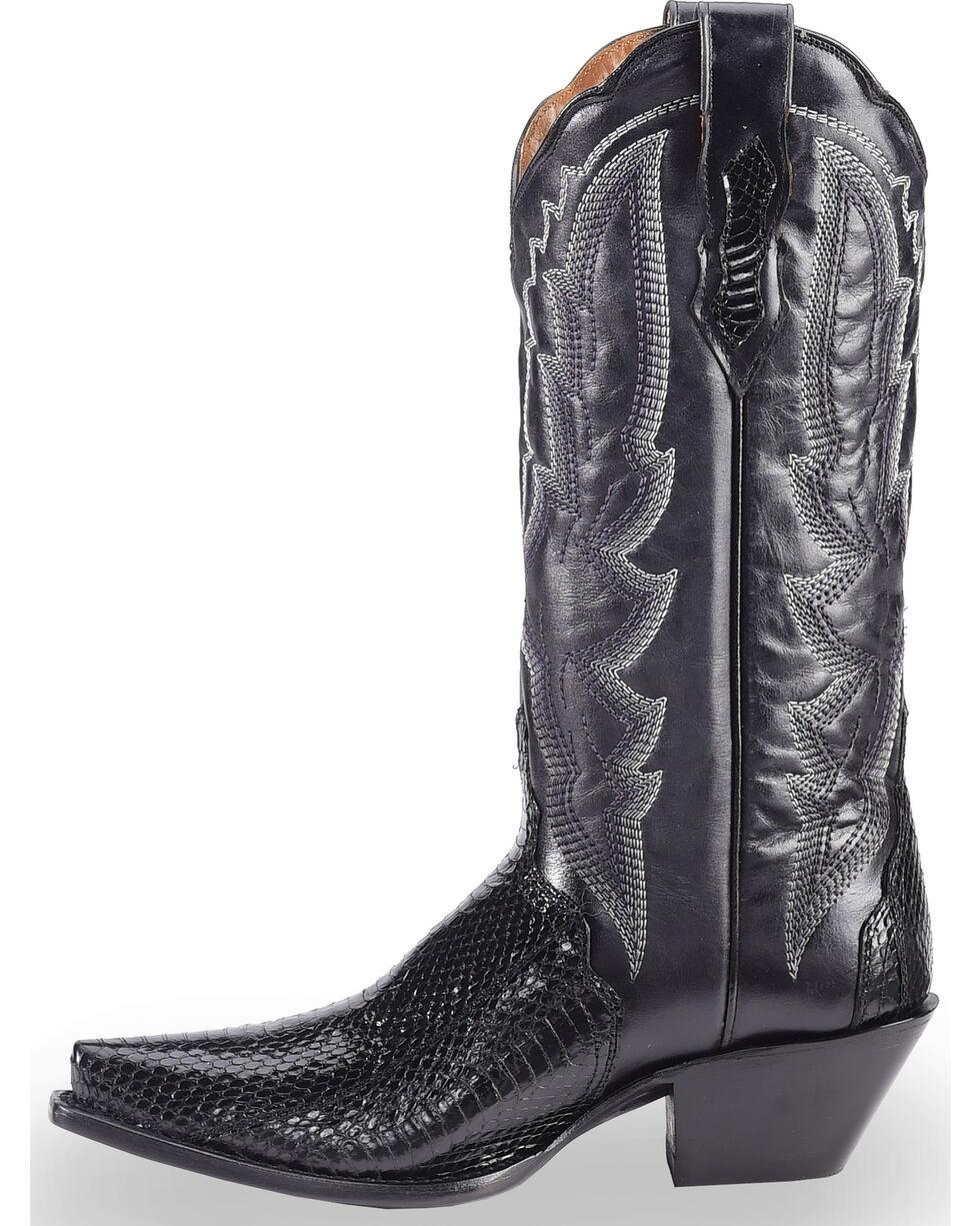 Dan Post Women's Black Water Snake Triad Cowgirl Boots - Snip Toe , , hi-res