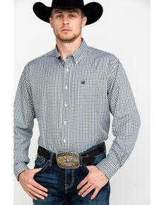 Cinch Men's Small Check Plaid Long Sleeve Western Shirt , Multi, hi-res