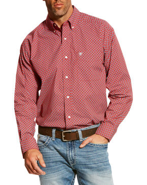 Ariat Men's Red Bardwell Print Shirt , Red, hi-res