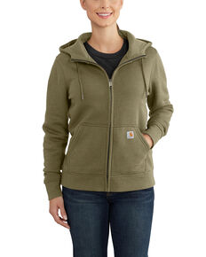 Carhartt Women's Olive Clarksburg Hooded Zipper Jacket, Olive, hi-res
