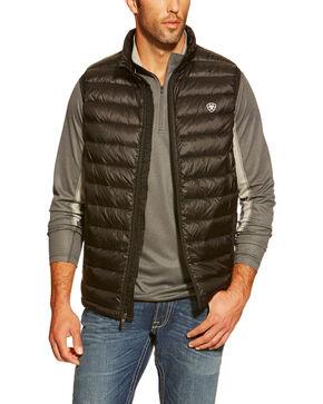 Ariat Men's Ideal Down Quilted Vest, Black, hi-res
