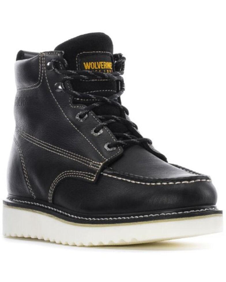 Wolverine Men's Wedge Work Boots - Soft Toe, Black, hi-res
