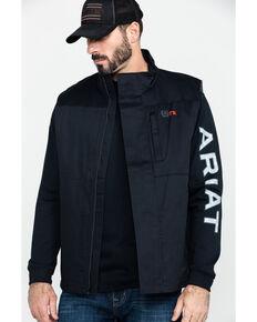 Cinch Men's FR Solid Twill Work Vest , Black, hi-res