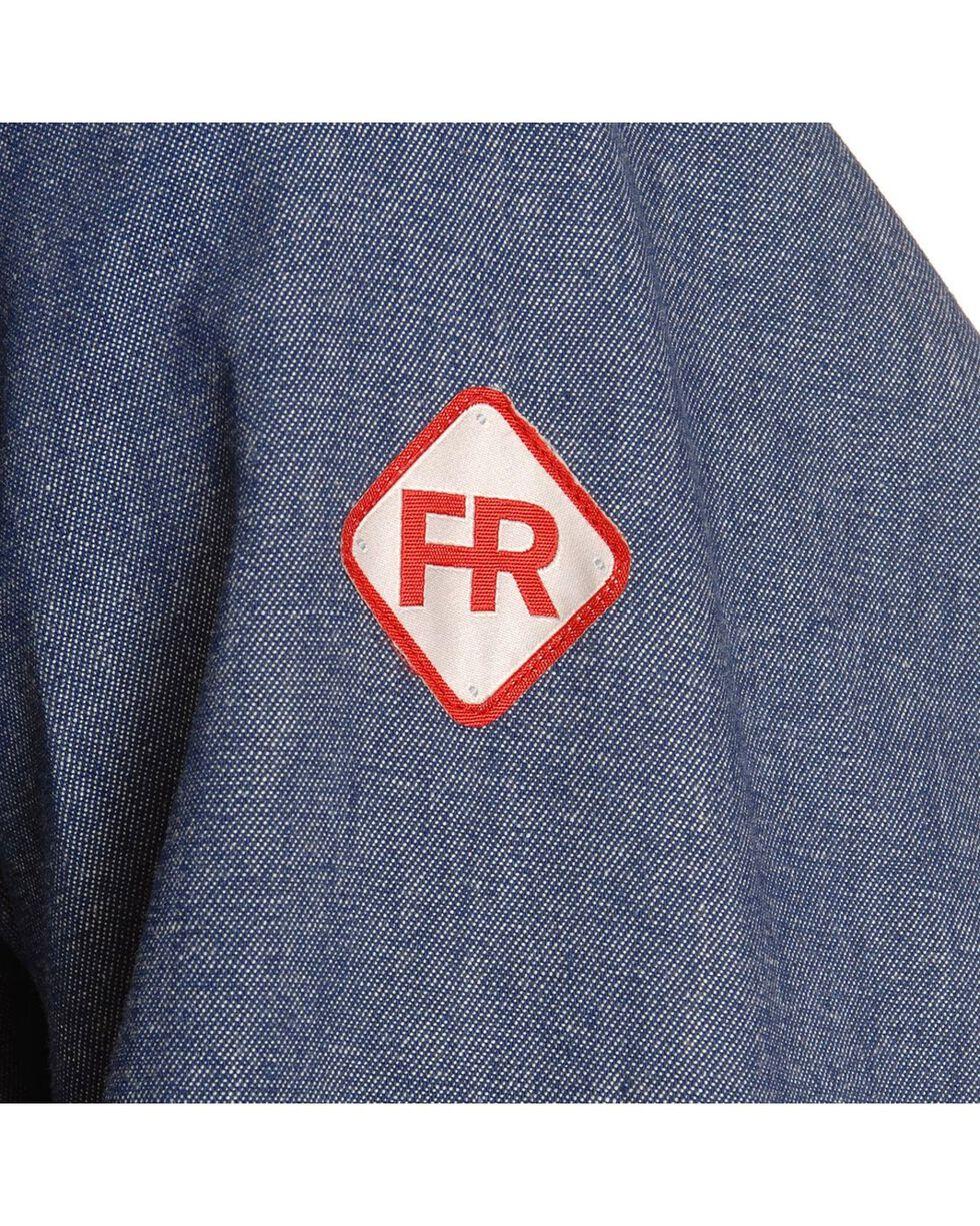 Wrangler Men's Flame-Resistant Work Shirt, Denim, hi-res