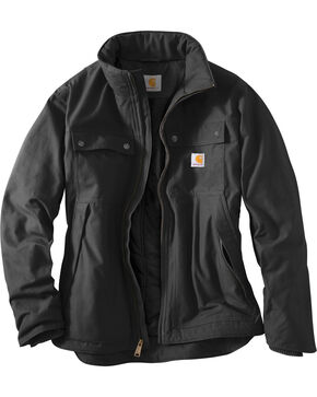 Carhartt Quick Duck® Jefferson Traditional Jacket, Black, hi-res