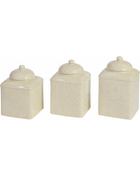 HiEnd Accents Savannah Canister Set - Cream, Cream, hi-res