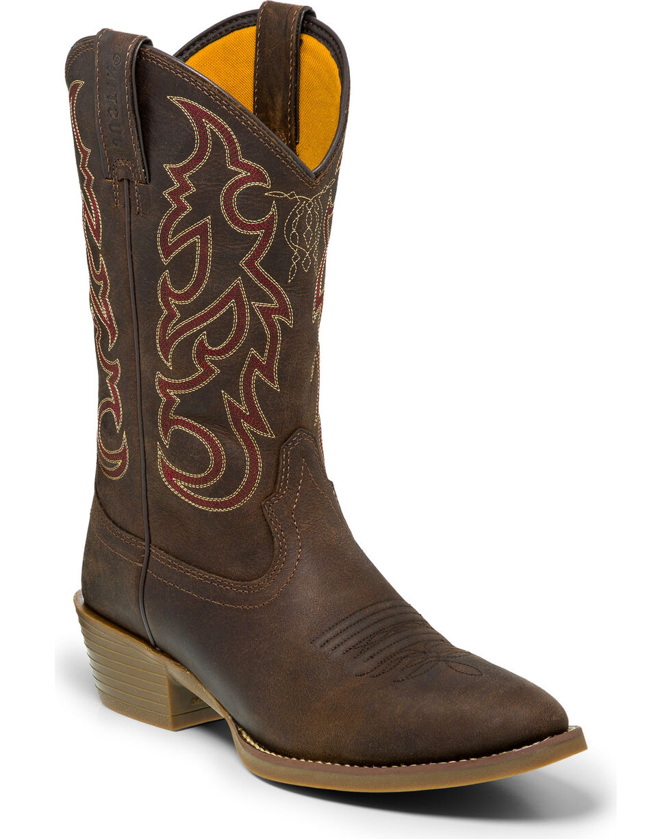 "Justin Men's 12"" Dusk Pull-On Western Boots, Brown, hi-res"