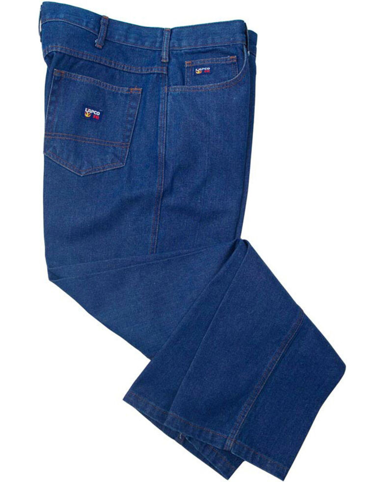 Lapco Men's Blue FR Relaxed Fit Bootcut Jeans, Blue, hi-res