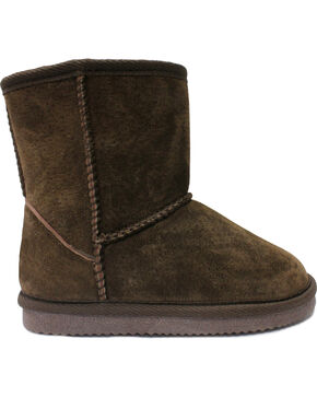 Lamo Footwear Kid's Classic Boots - Round Toe, Chocolate, hi-res