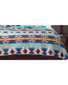 Carstens Southwest Harvest Queen Quilt, Blue, hi-res