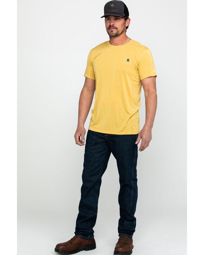 Carhartt Men's Force Extremes Lightweight Work T-Shirt - Big , Yellow, hi-res
