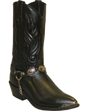 Sage Boots by Abilene Men's Western Harness Boots, Black, hi-res