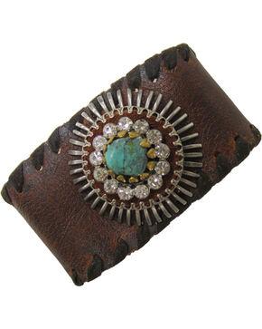 Cowgirl Confetti Women's Wonderfully Wild Cuff Bracelet, Brown, hi-res