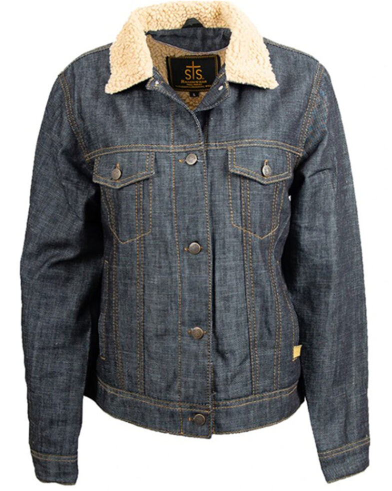 STS Ranchwear Women's Blue Sawyer Denim Jacket , Blue, hi-res