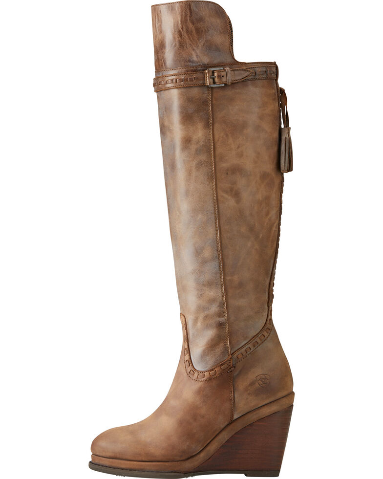 a0b8d626549 Ariat Women s Knoxville Tan Tall Wedge Boots - Round Toe