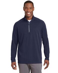 Sport Tek Men's Navy Sport Wick Textured 1/4 Zip Pullover Work Sweatshirt , Navy, hi-res