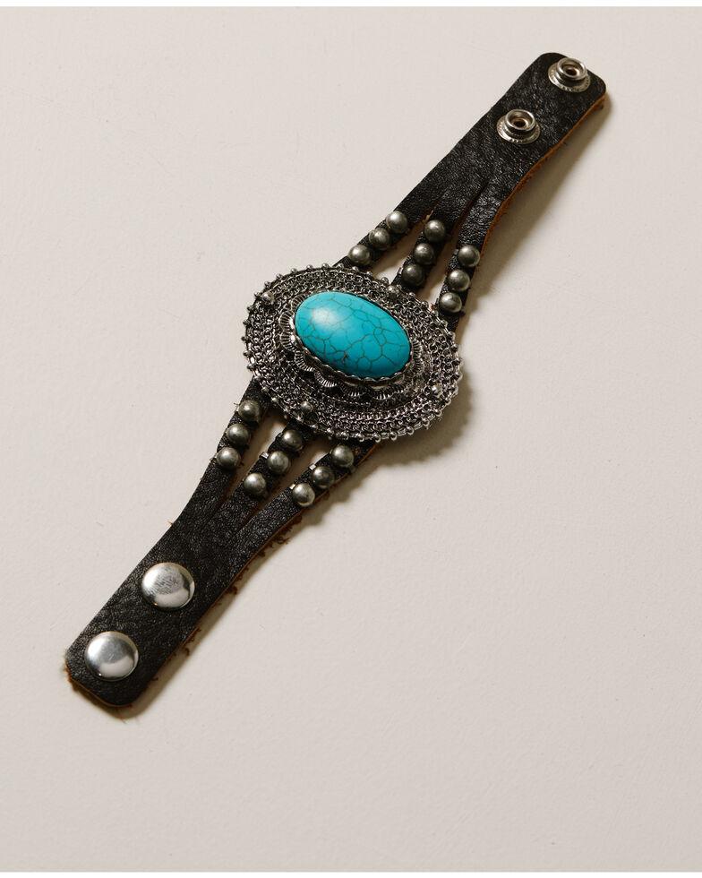 Idyllwind Women's Oh My Turquoise Leather Bracelet, Black, hi-res