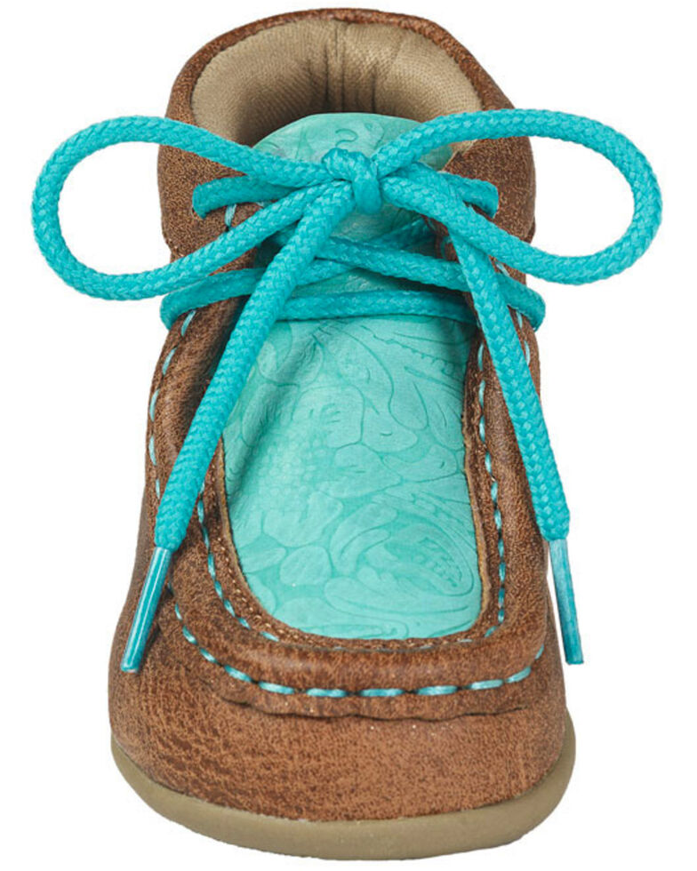 M&F Western Girls' Lace-Up Moccasin Slippers - Moc Toe, Tan, hi-res