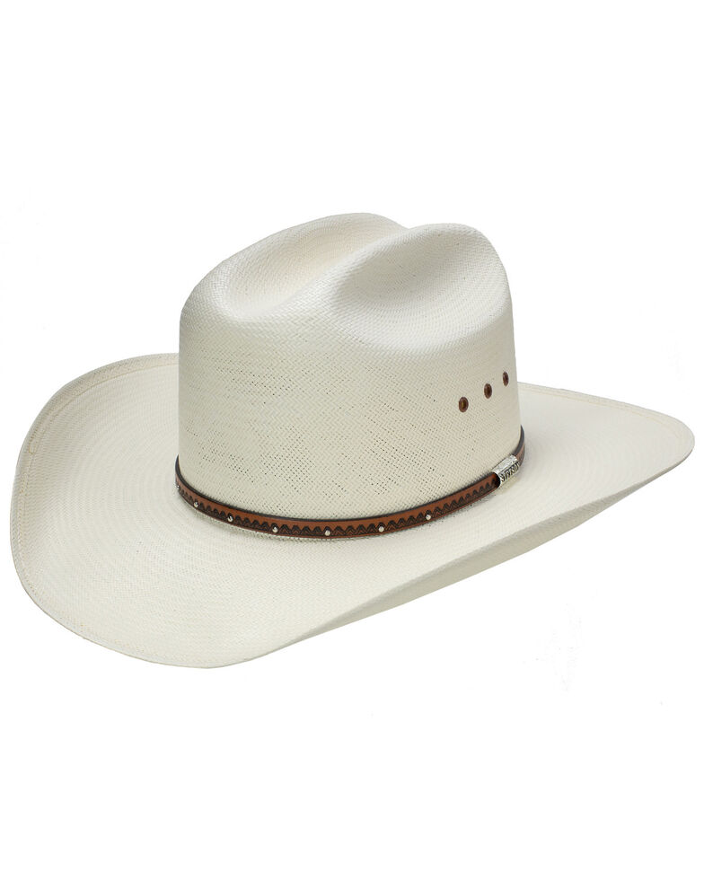 Stetson Men's Haywood Straw Cowboy Hat, Natural, hi-res