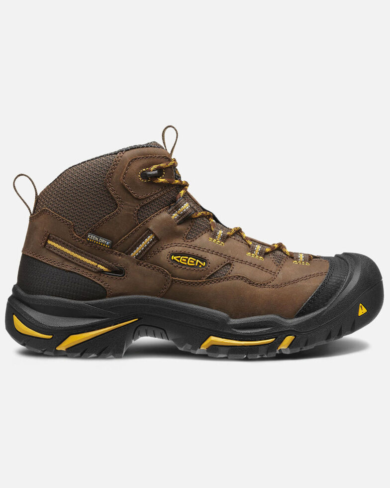 Keen Men's Braddock Waterproof Work Boots - Soft Toe, Brown, hi-res