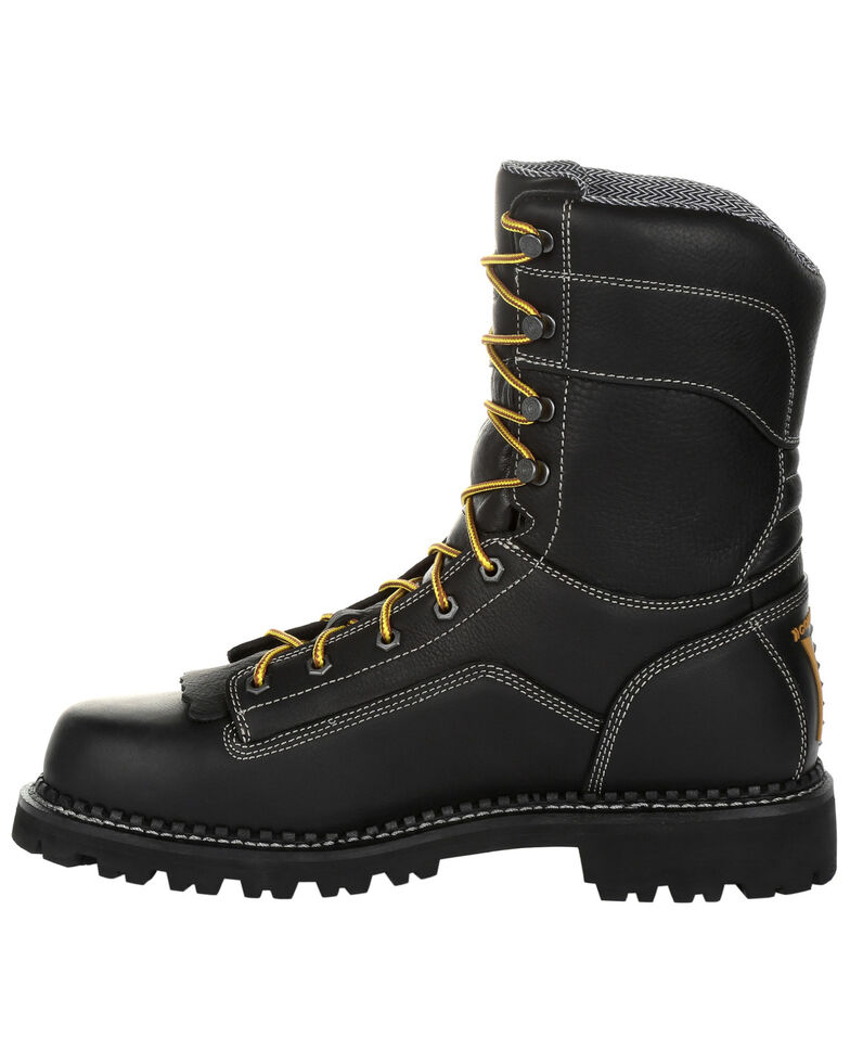 Georgia Boot Men's Amp LT Waterproof Logger Boots - Soft Toe, Black, hi-res